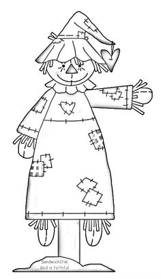 Scarecrow clipart black and white For A scarecrow fun Sandwich