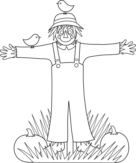 Scarecrow clipart black and white Free Free Art Clip Cute