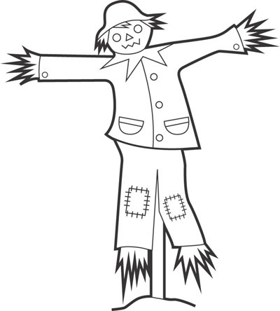 Scarecrow clipart black and white And Scarecrow Art Clip