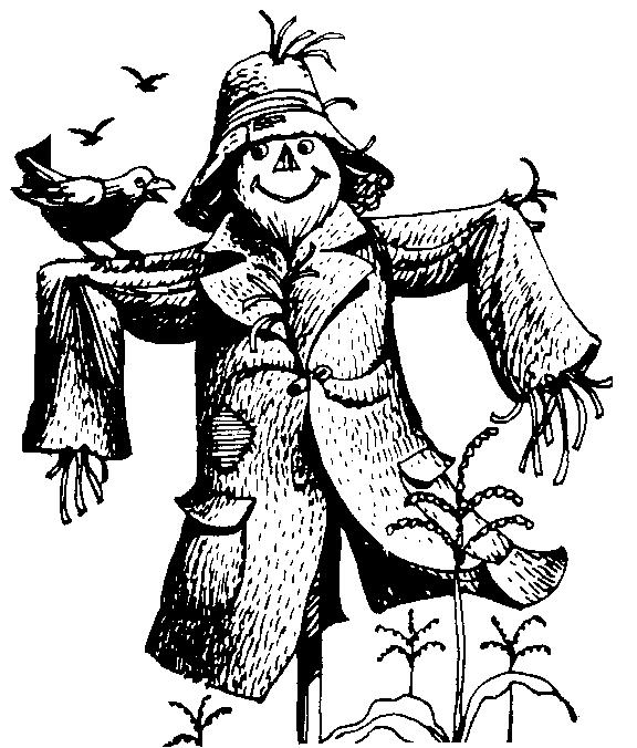 Scarecrow clipart black and white 3 Scarecrow art clip black