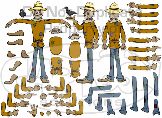 Scarecrow clipart body PLUS parts Pack Scarecrow Pack