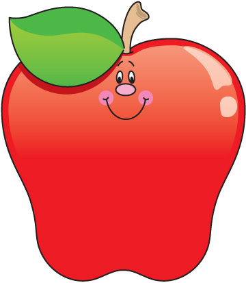 Colouful clipart apple #5