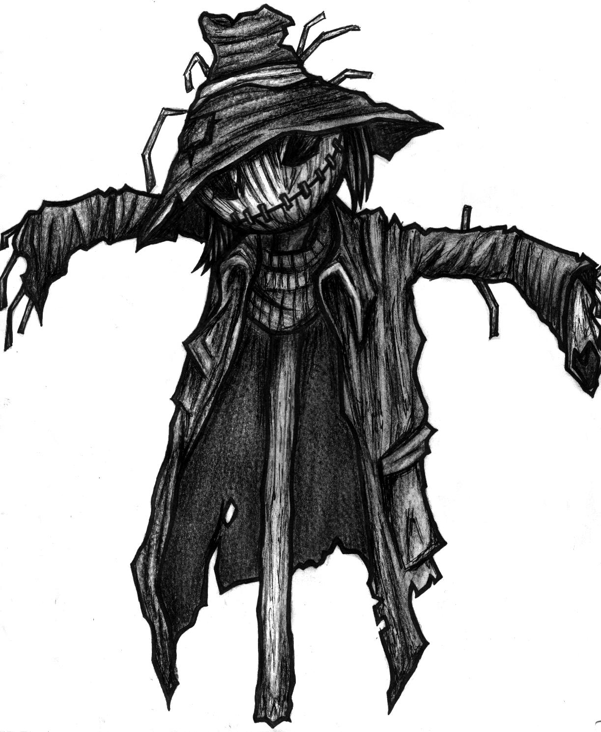 Scarecrow clipart creepy Art art original traditional Scarecrow