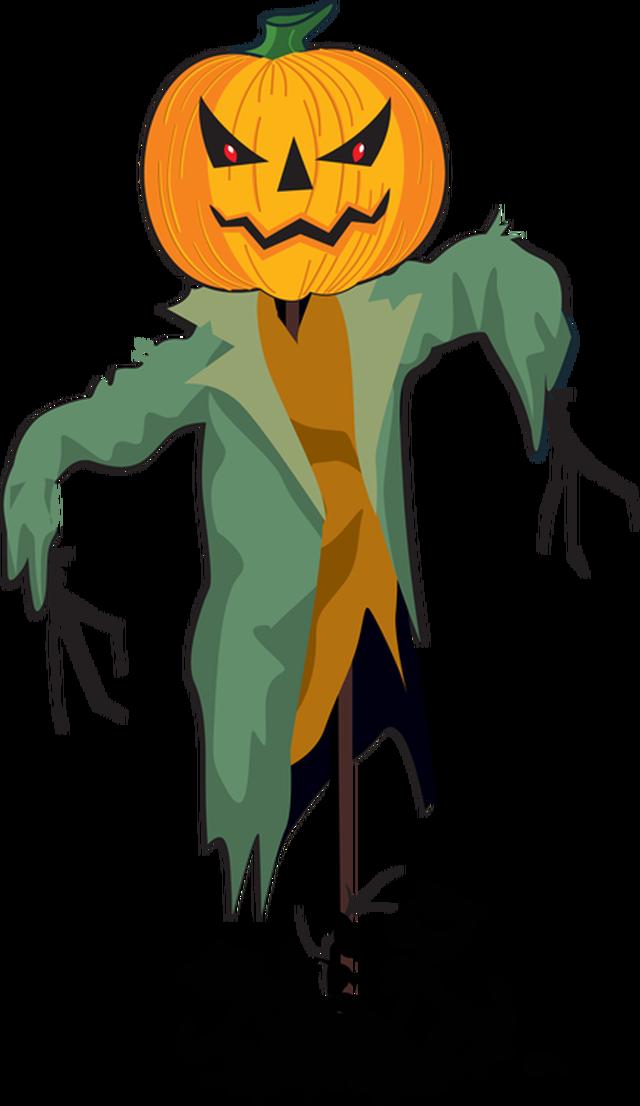 Scarecrow clipart creepy Free Clipartix clipartcow Pictures Scarecrow
