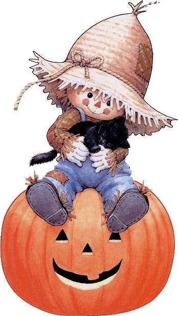 Scarecrow clipart cute halloween Find and Clip Halloween Art