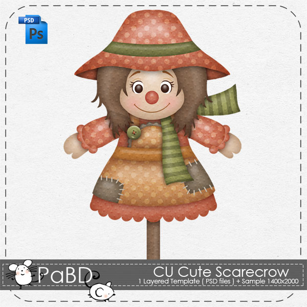 Scarecrow clipart female Peek Boo Cute Cute by