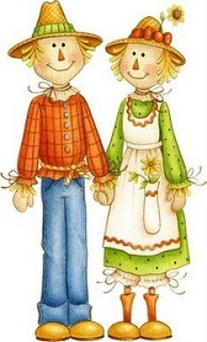 Scarecrow clipart female Clip Cliparts Halloween Zone Couples