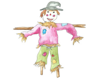 Scarecrow clipart harvest day // Harvest Etsy Studio Clip