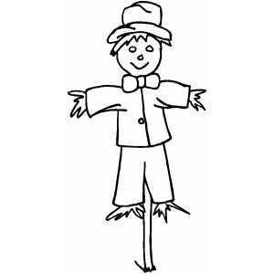 Scarecrow clipart outline Halloween 100 for Scarecrow scarecrows