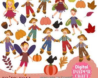 Scarecrow clipart paper Clipart Clipart Fall Clipart Children