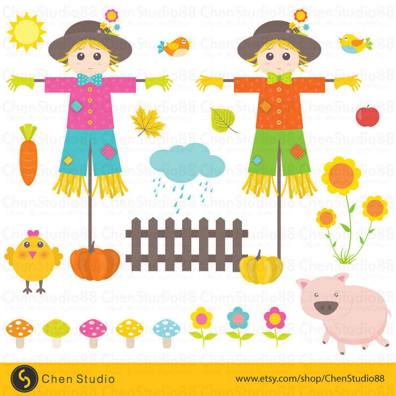 Scarecrow clipart paper Art Clip paper and from