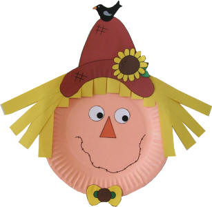 Scarecrow clipart paper Plate Scarecrow Plate Scarecrow Paper