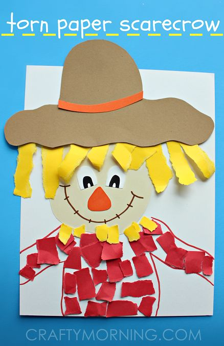 Scarecrow clipart paper Kids on Craft Paper Scarecrow