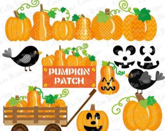 Zombie clipart pumpkin Harvest Crow clipart art Patch