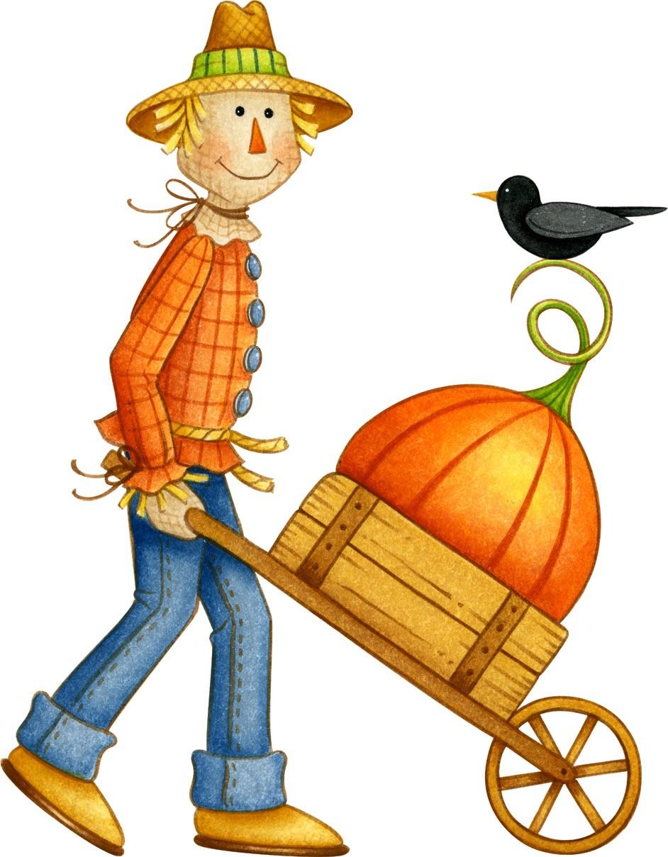 Country clipart autumn  art clip scarecrow Scarecrow