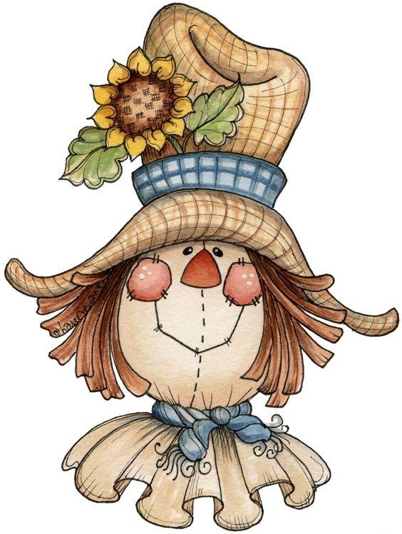 Country clipart autumn Scarecrow art digi image clip