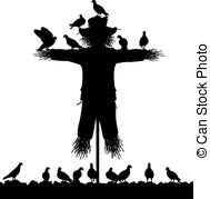 Scarecrow clipart silhouette Illustrations vector flock and Scarecrow