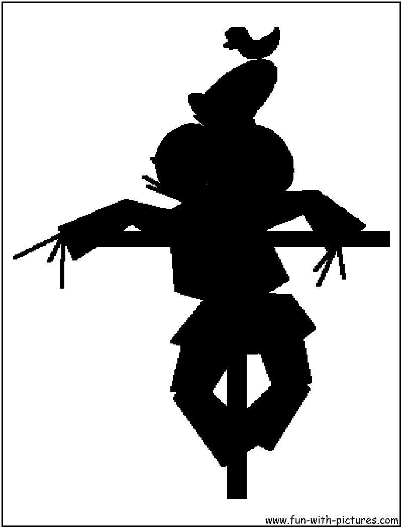 Scarecrow clipart silhouette Scarecrow  Silhouette