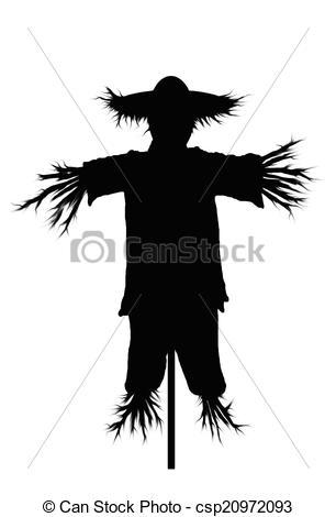 Scarecrow clipart silhouette 986 illustration an scarecrow silhouette