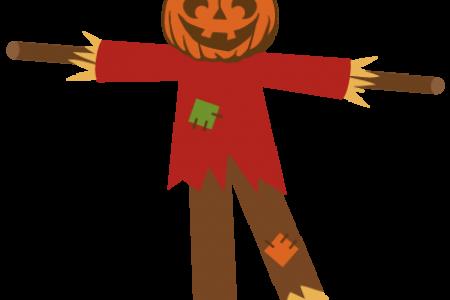 Scarecrow clipart silhouette Art cut files SVG cute