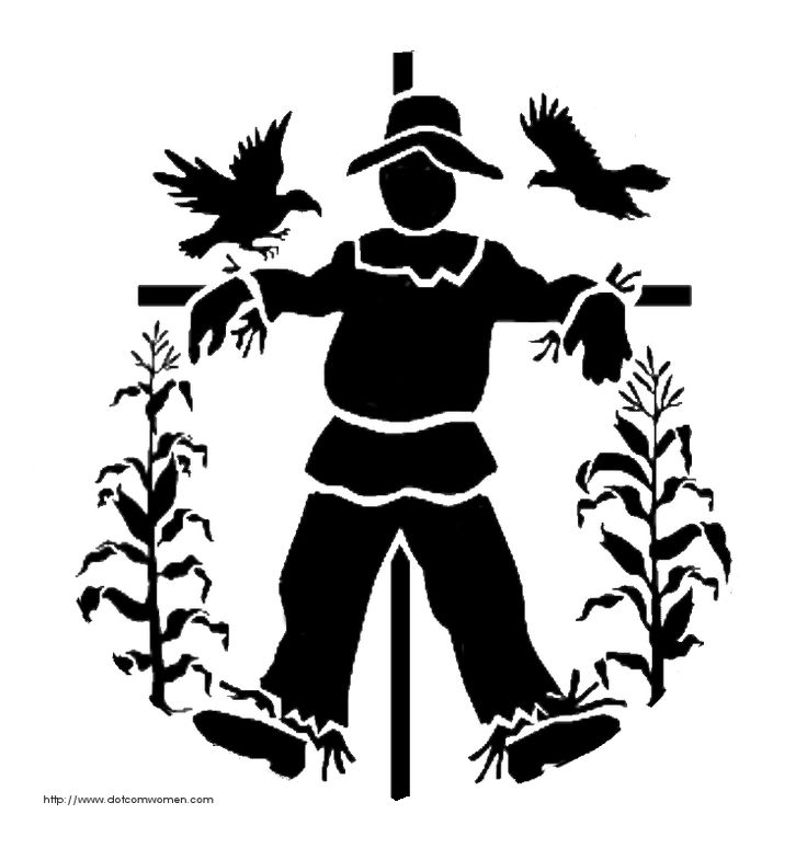 Scarecrow clipart silhouette Cameo and Cameo this on
