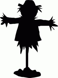 Scarecrow clipart silhouette Store! in shape Pinterest think