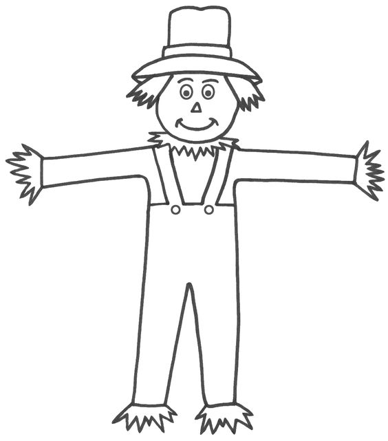 Scarecrow clipart simple Images  scarecrow Free coloring