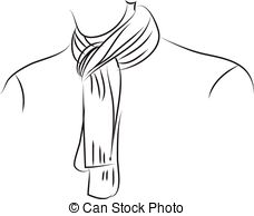 Black & White clipart scarf Scarf Illustrations and images