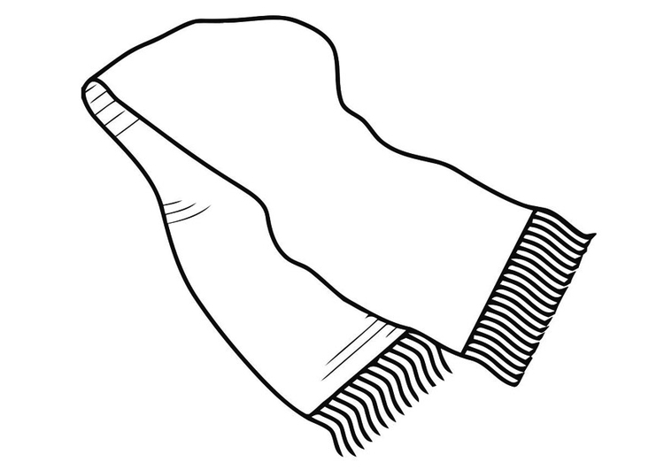 Scarf clipart coloring page #5