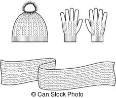 Scarf clipart knit hat #1