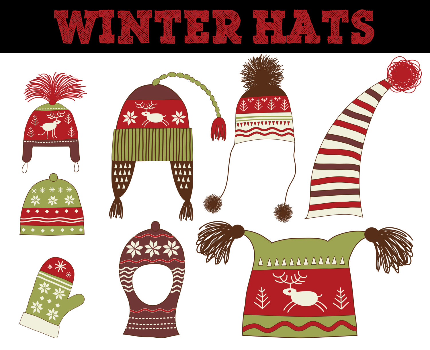 Scarf clipart knit hat #2