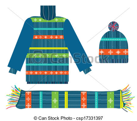 Scarf clipart knit hat #4