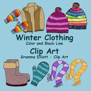 Scarf clipart winter gear #11