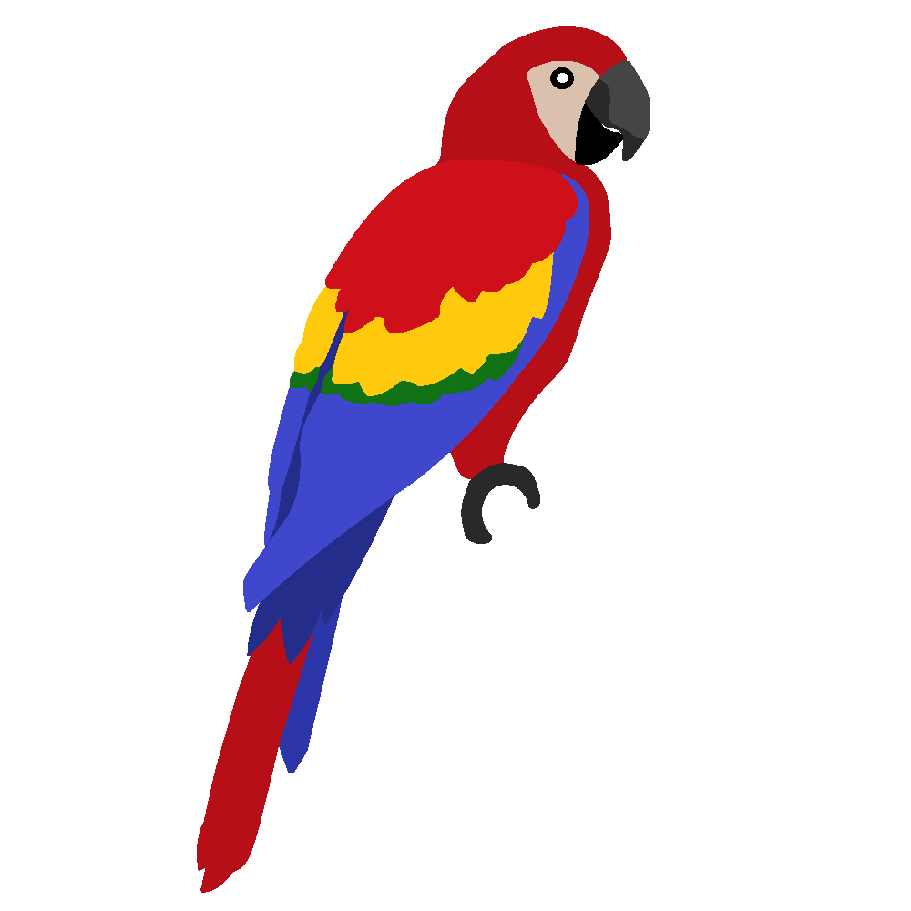 Scarlet Macaw clipart #2