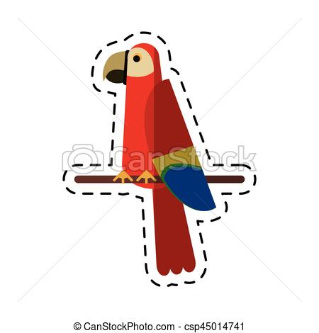 Scarlet Macaw clipart drawing #13