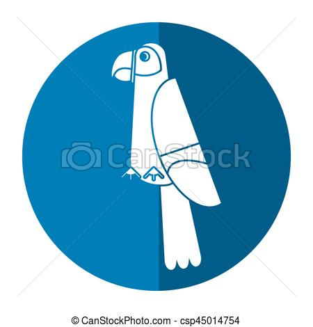 Scarlet Macaw clipart tropical bird #14