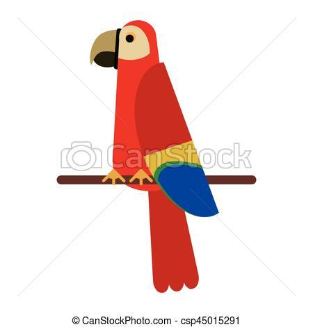Scarlet Macaw clipart tropical bird #1