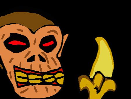 Scary clipart banana #13