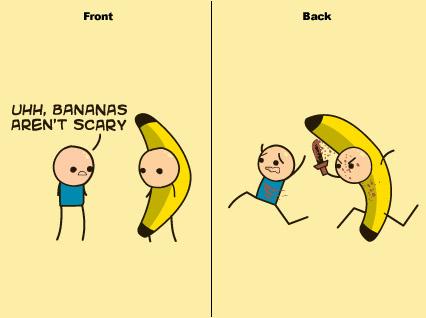 Scary clipart banana #11