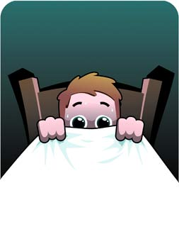Scary clipart bed #6