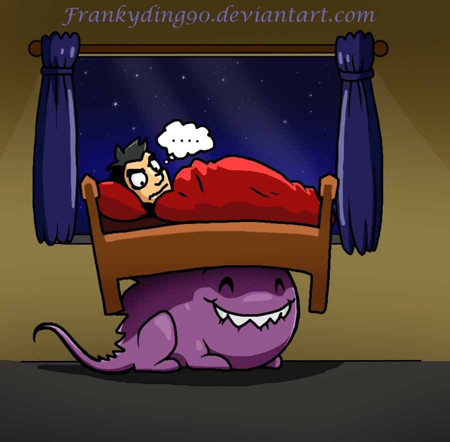 Scary clipart bed #4