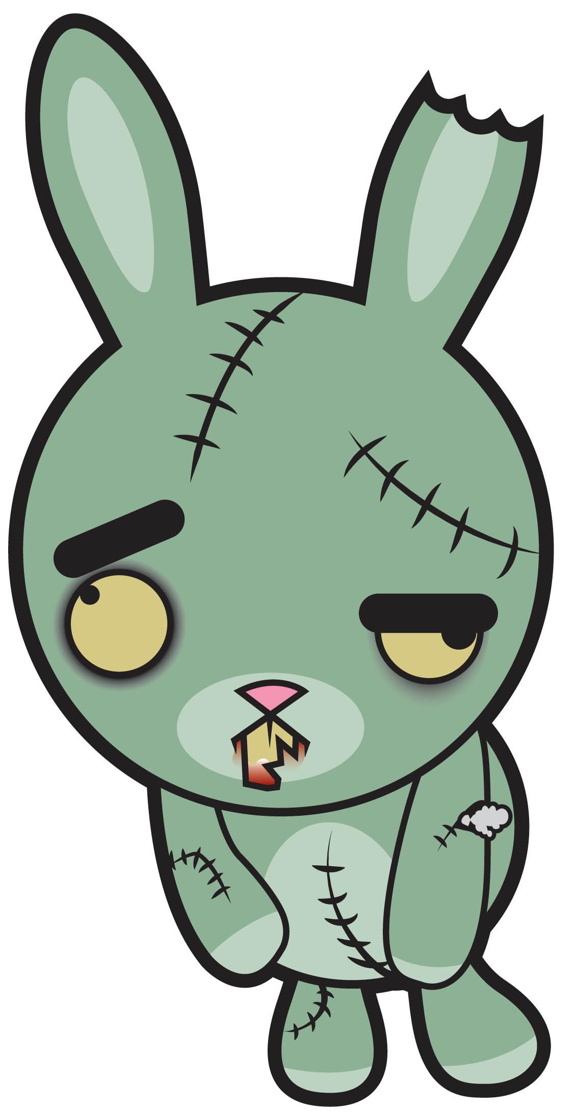 Scary clipart bunny #11