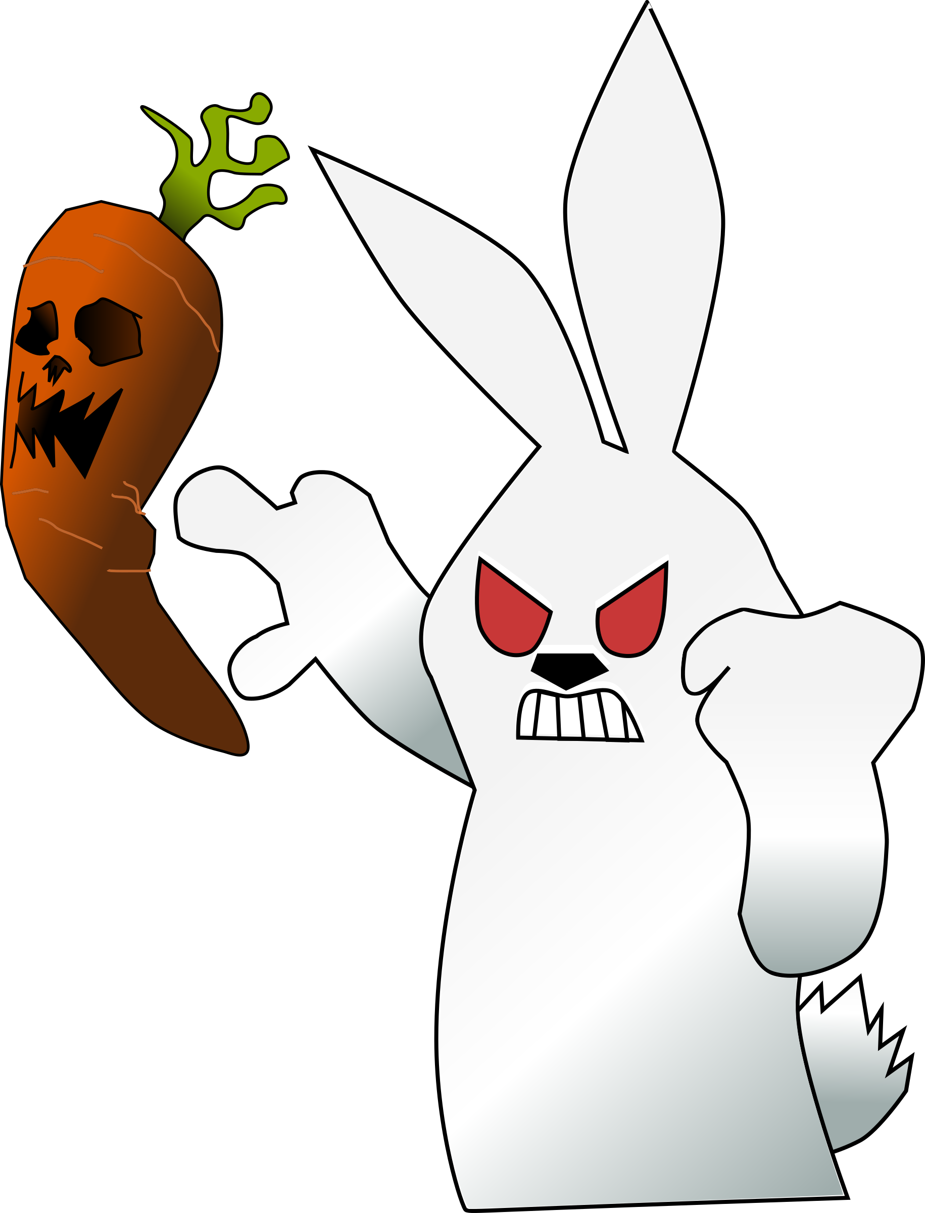 Scary clipart carrot #10