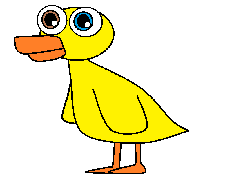 Scary clipart duck #7