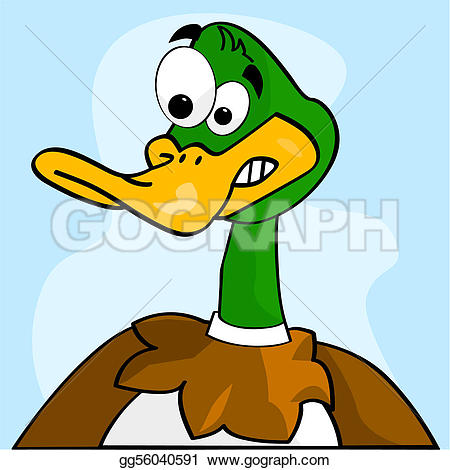 Scary clipart duck #6