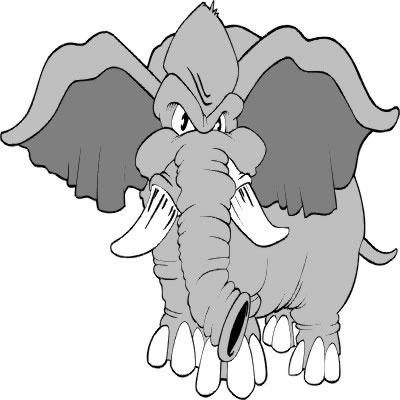 Scary clipart elephant #15