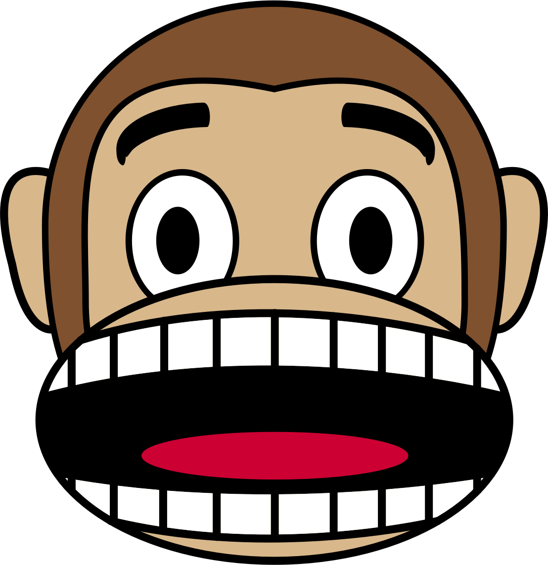 Scary clipart fearful #3