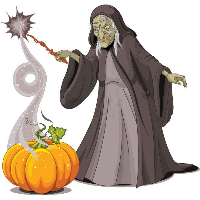 Scary clipart old lady #8