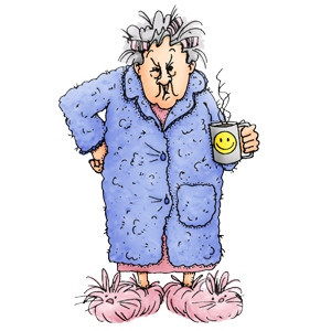 Scary clipart old lady #11