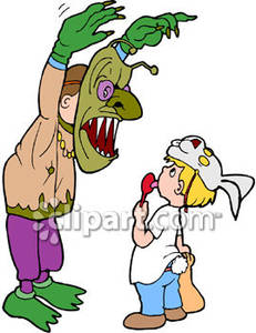 Scary clipart scared child #7